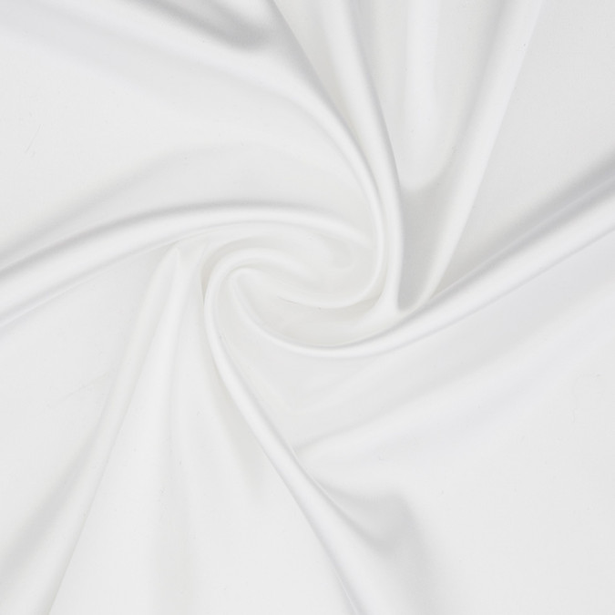 white stretch polyester charmeuse 306637 11