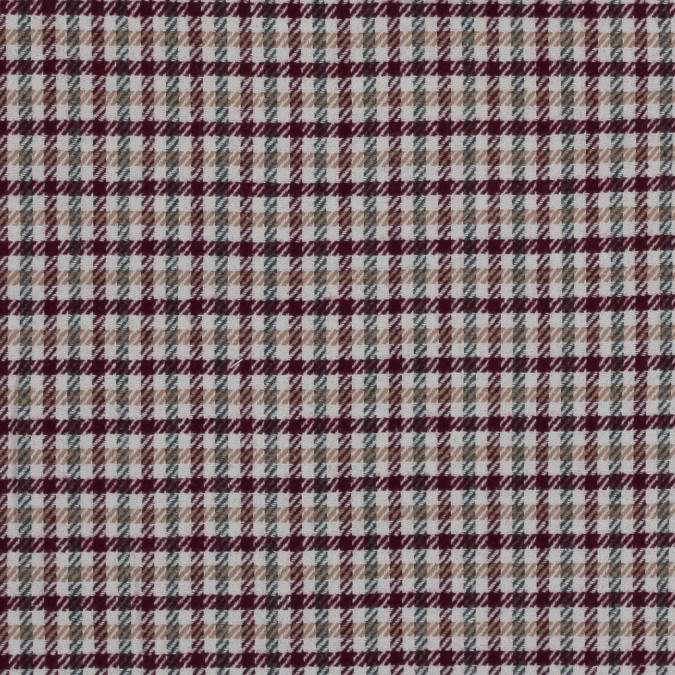 windsor wine beige and green plaid wool twill 315988 11