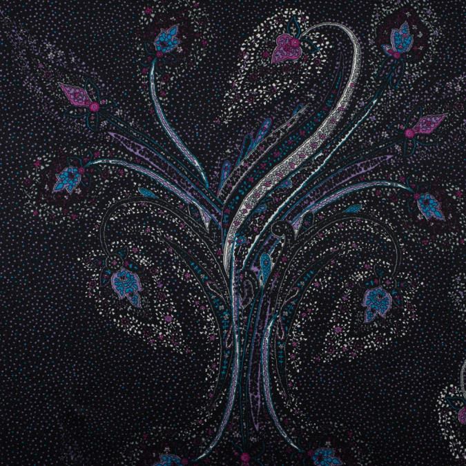 wineberry and black floral printed silk charmeuse 315730 11