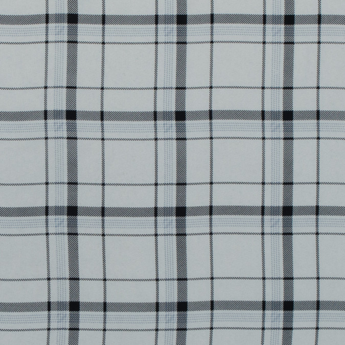 winter white and black plaid polyester georgette 313481 11