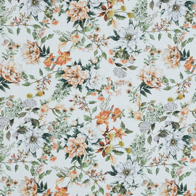 xmood exclusive les fleurs de l amour orange and green cotton voile md0006 11 jpg pagespeed ic gk2zAgDk4G